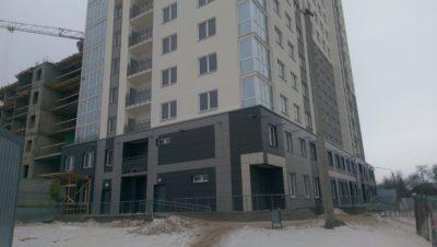 Вентилируемые фасады из керамогранита в Минске,пр. Дзержинского